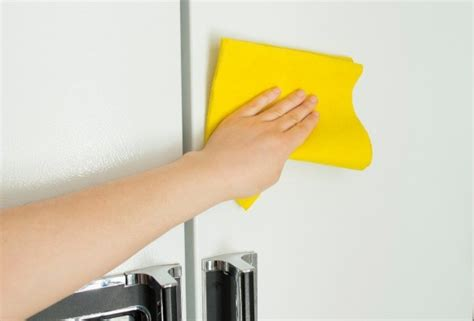 what can i use to clean grease off kitchen cabinets cleaning your refrigerator thriftyfun