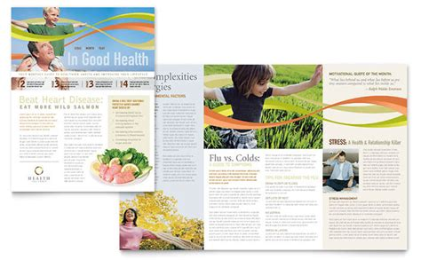 health and wellness newsletter template health insurance company newsletter template design