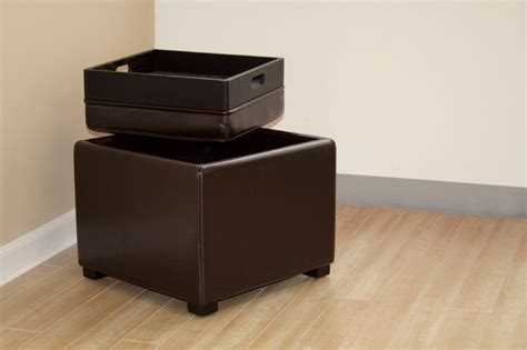 dark brown leather storage ottoman wholesale interiors bicast leather storage ottoman brown d