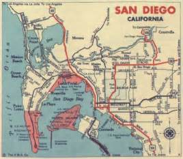 San Diego Traffic Map by 1939 California And Cities Southern California Regional