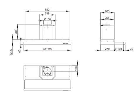 hotte tiroir roblin hotte tiroir 60 cm sans moteur roblin 6103111 premium 610
