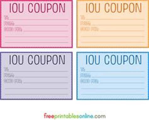 printable gift vouchers australia printable iou coupon voucher party ideas pinterest