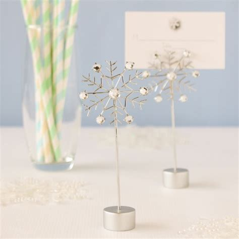 Snowflake Place Cards, Snow Place Card Holders, Snowflake