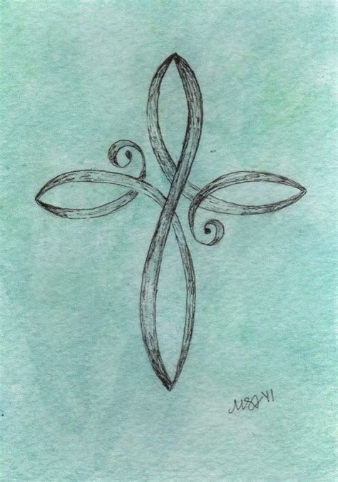 pretty cross tattoos teal cross original watercolor painting 3 5x5 beautiful