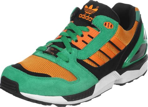 adidas zx 8000 shoes green orange black