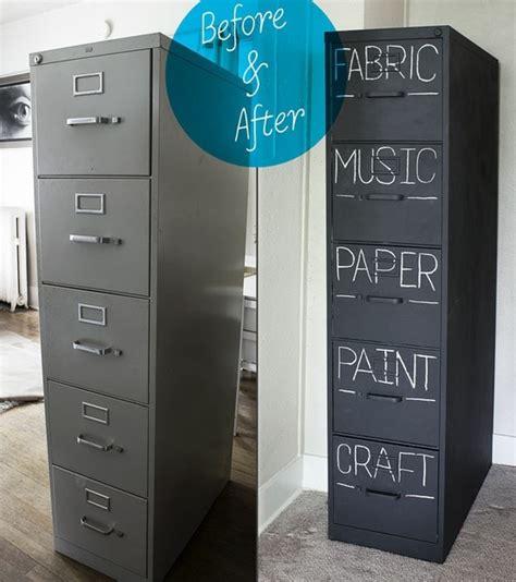 Diy File Cabinet Diy Chalkboard Filing Cabinet School