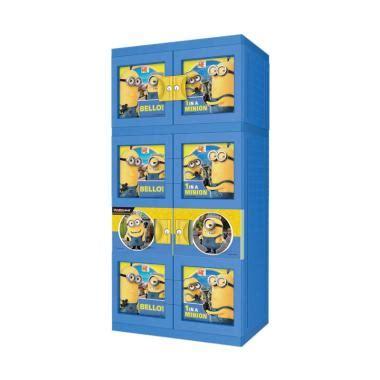 Lemari Plastik Merk Naiba jual naiba minion 1683d plastik lemari gantung biru