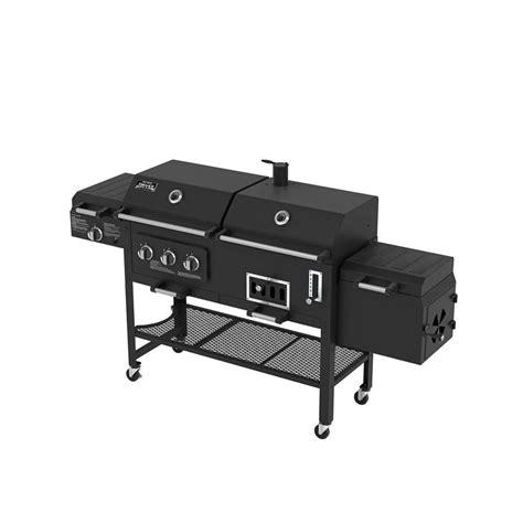 Backyard Grill Gas Charcoal Smoke Hollow Deluxe 3 Burner Combination Bbq Propane Gas