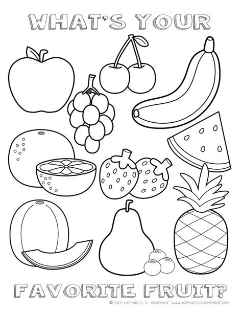 coloring pages fruits preschool best 25 fruit coloring pages ideas on pinterest food