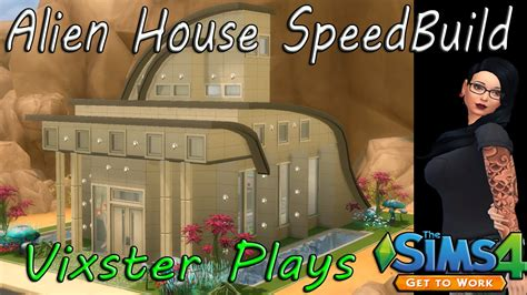 alien house the sims 4 building alien house with basement water feature speed build youtube