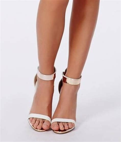 gold and white high heels shoes gold white high heels gold straps wheretoget