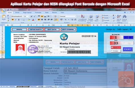 aplikasi pembuat barcode gratis download aplikasi kartu pelajar dan nisn dilengkapi font
