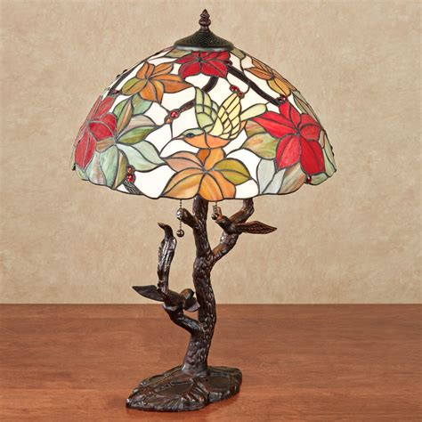 stained glass post light tropical passion floral stained glass l