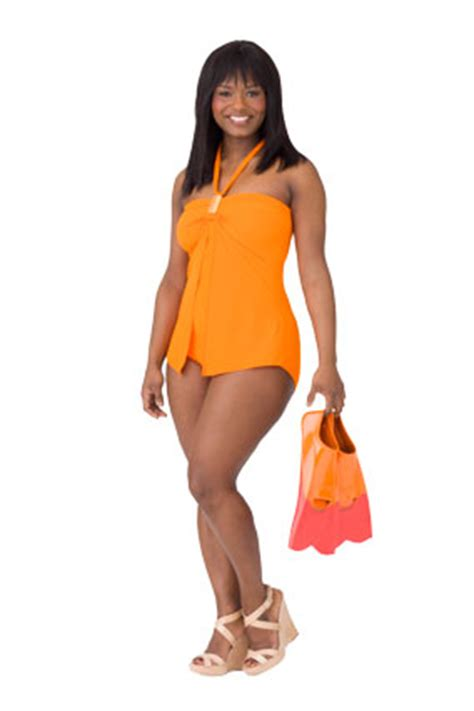 older women with pear shape swimsuits for pear shaped bodies