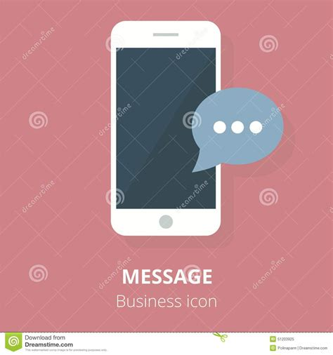 Phone And Message Records Can Be Used In Court Business Icon Mobile Phone With Message Flat Vector
