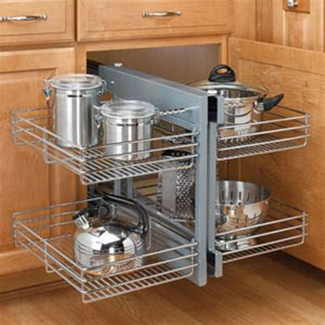 kitchen cupboard interior storage chrome blind corner optimizer