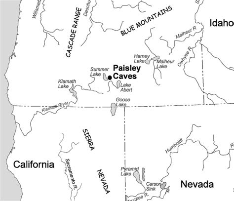 paisley oregon map the western stemmed tradition clovis and mtdna 9 bp deletion