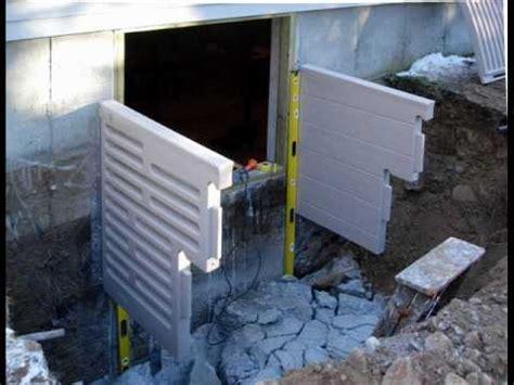 bilco ultra series basement door installation how to