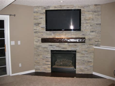 low cost easy fireplace mantel look of