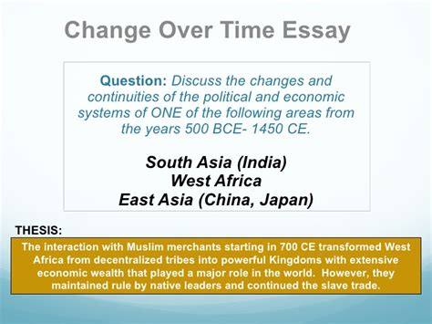 Change Time Essay Islam In West Africa changeovertime overview