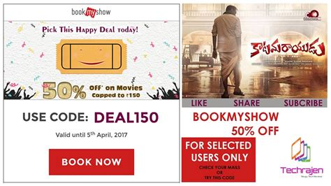 bookmyshow offers october 2017 bookmyshow offer use promo code quot deal150 quot valid till 5th