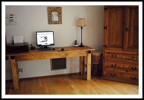 Narrow Computer Desks White Narrow Farmhouse Table Computer Desk Diy Projects