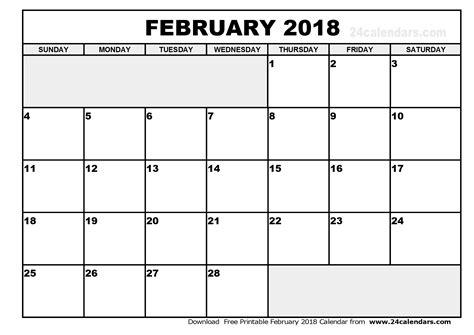 printable calendar february 2017 february 2018 calendar printable free calendar 2017