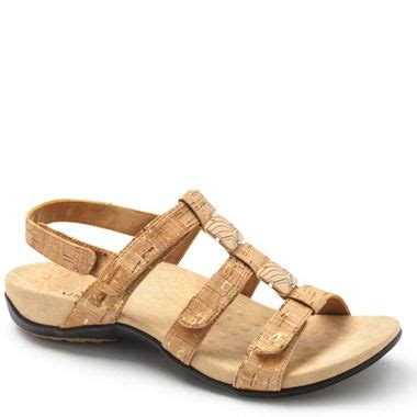 Vionic Gold Cork Sandal Wanita vionic adjustable sandal gold cork family footwear center
