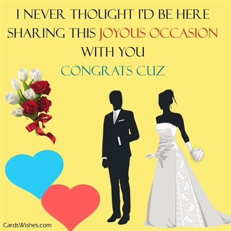 Wedding Congratulations For Cousin by Wedding Wishes For Cousin Cards Wishes
