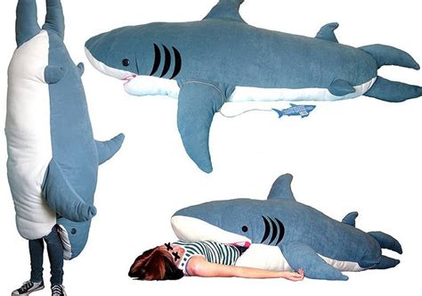 big shark pillow big shark sleeping bag soft cushion mattress novelty home