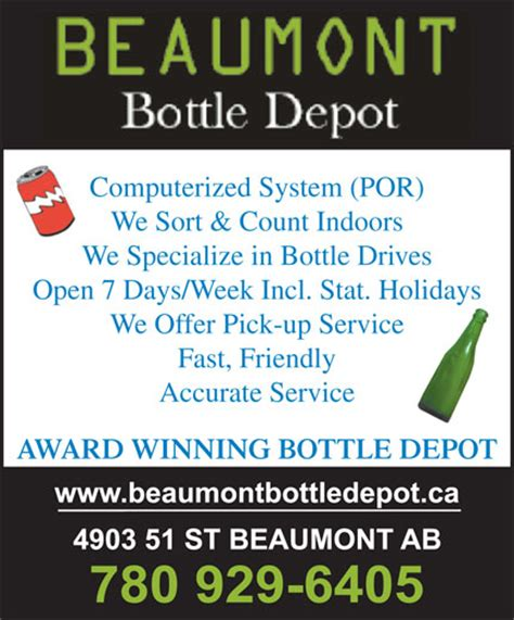 beaumont bottle depot 4903 51 st beaumont ab