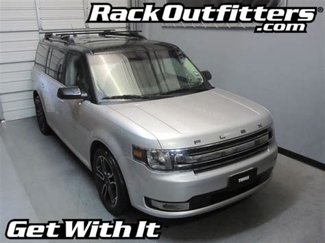 2010 Ford Flex Roof Rack by Ford Flex Thule Crossroad Square Bar Roof Rack 08 14
