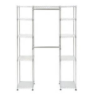 seville classics expandable closet organizer str05813 seville classics 72 in h chrome expandable closet