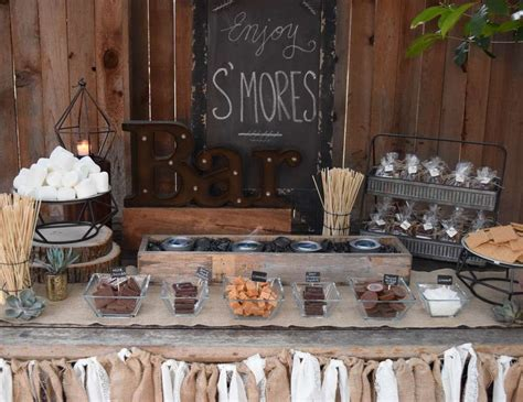 smores at wedding reception s mores bar wedding quot rustic s mores bar quot catch my