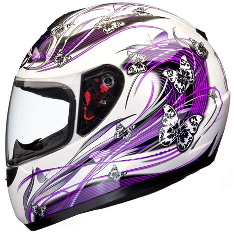 purple motocross helmet mt thunder butterfly white purple motorcycle helmet ladies