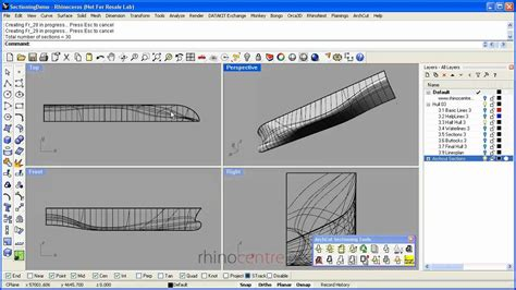 watch ac section video demo rhino sections and linesplans youtube