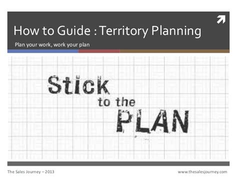 sales guide template territory planning the sales journey