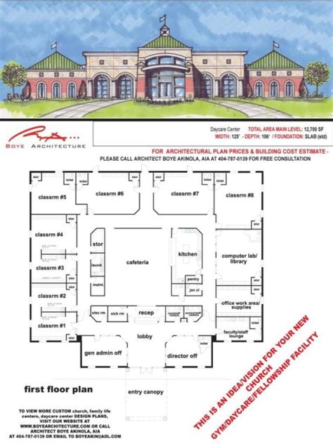 family life center floor plans church daycare gym design