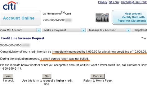 Credit Limit Increase Form Hdfc How To Get An Instant Credit Limit Increase With Citibank My Money