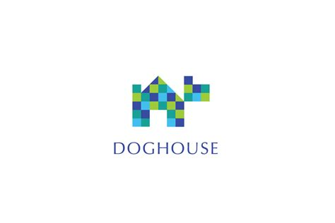 dog house digital dog house logo cowboy