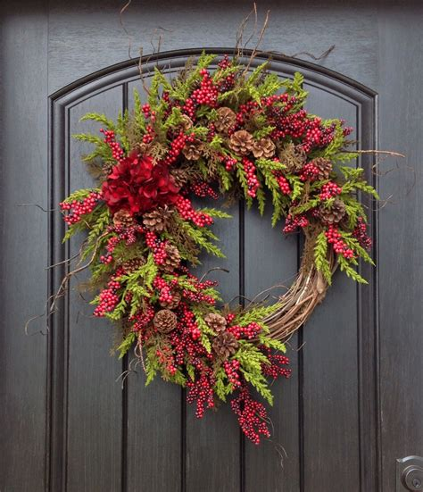 christmas wreath winter wreath holiday door
