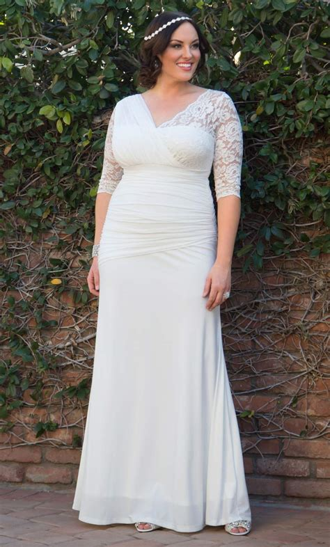 Wedding Plus Size Gowns by Aisle Wedding Gown Kiyonna Clothing