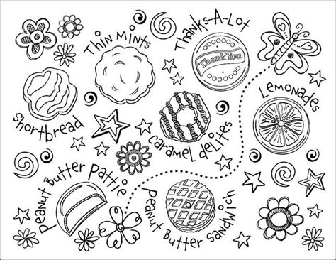 coloring page girl scout cookies 58 best girl scout printables images on pinterest