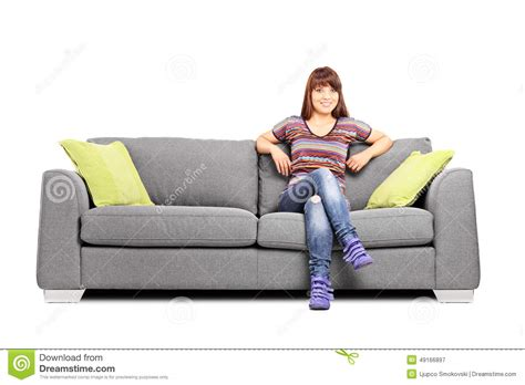 Sofa Sitting by Relaxed Sitting On A Modern Sofa Stock Photo Image