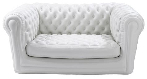 blow up settee big blo 2 straight sofa inflatable 2 seats white by