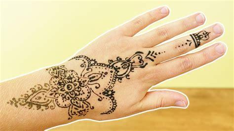henna tattoo zum selbermachen henna selber machen sch 246 nes blumen design muster