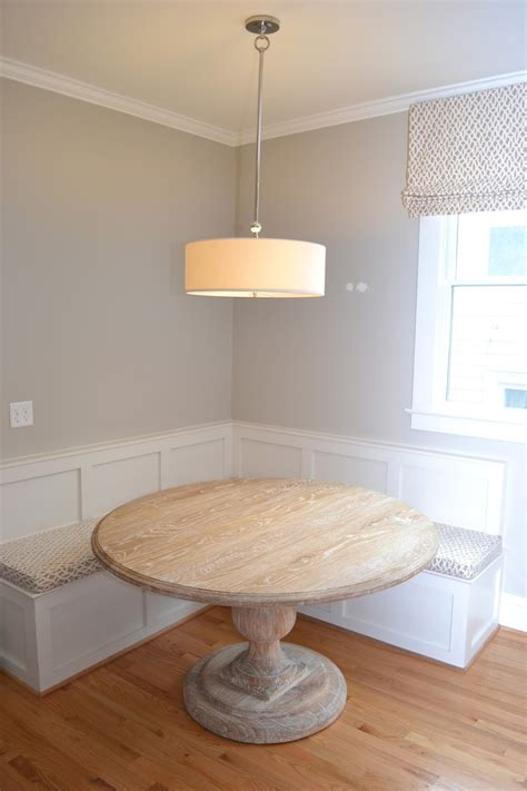 round dining table bench seating lucy williams interior design blog before and after