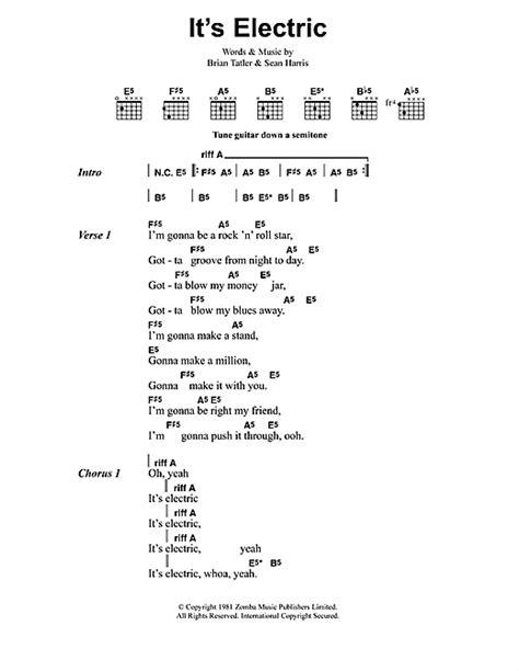 electric lyrics it s electric sheet by metallica lyrics chords