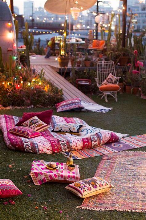 boho outdoor decor  design concepts