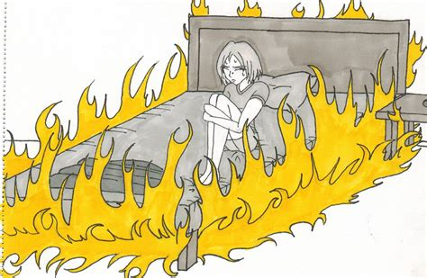this bed is on fire bed on fire by isabellafaleno on deviantart